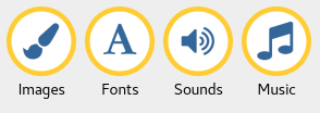 Images and Sounds buttons